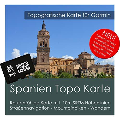 Spanien Garmin Karte TOPO 4 GB microSD. Topografische GPS Freizeitkarte für Fahrrad Wandern Touren Trekking Geocaching & Outdoor. Navigationsgeräte, PC & MAC Garmin Rino Auto