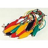 NoName 200081 - Cables con clip cocodrilo aislados (10 piezas, 45 cm)