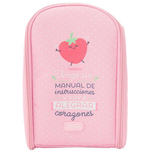 Mochila Termica con termo liquido 350ml Mr Wonderful Rosa