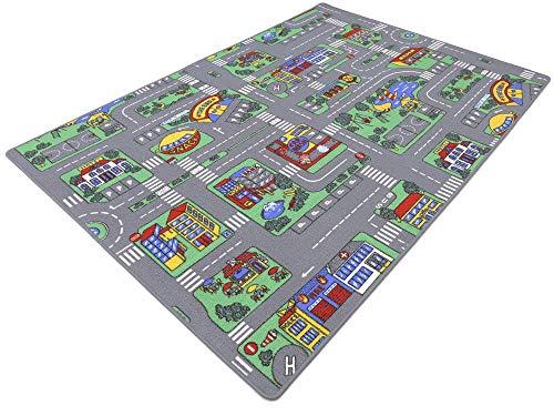 HEVO Auto Teppich Kinder Strassen Spielteppich | Kinderteppich 145x200 cm