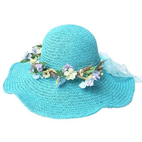 Visière de dames/Chapeau paille/Chapeaux de plage/Chapeau/Mesdames chapeau de soleil D