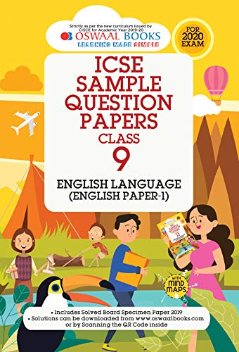 Oswaal ICSE Sample Question Papers Class 9 English Paper 1 Language (For March 2020 Exam)
