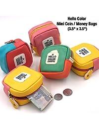 Mini Cute Coin Purse Small Square Bag Women Coins Bags Small Earphone Bag PU Mini Plain Wallet Purses
