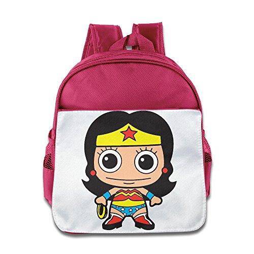 Chibi Wonder Woman Unisex Fashion Lunch Bag School Bag, rose, Einheitsgröße