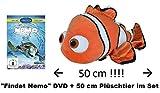 music-movie-more Findet Nemo (Disney) - Kinofilm + Plüschtier Nemo (Simba 6315871786) ca. 50 cm im Set - Deutsche Originalware [2 DVDs]