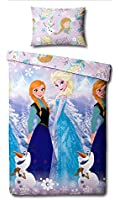 Disney frozen crystal single rotary reversible duvet set