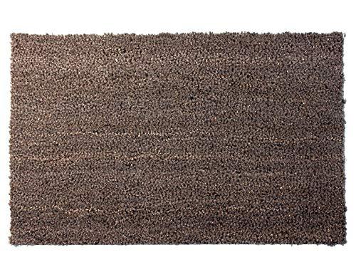 Primaflor - Ideen in Textil Kokosmatte Fussmatte Grau 40 x 60 cm Fußmatte Kokos Schmutzfangmatte Haustür Innen & Außen, Sauberlauf