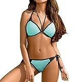 BFUSTYLE Set de Bikini de Colores Brillantes Para Mujer Strain Tankinis Top Acolchado y pantalón corto de 2 Piezas