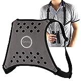 Eyeskey Double Sling Shoulder Neck Strap belt / Binocular Harness for Binocular SLR DSLR Cameras (Grey)