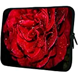 """Snoogg Water Drops In Rose 10"""" 10.5"""" 10.6"""" inch Laptop Notebook Slipcase Sleeve Soft Case Carrying Case for Macbook Pro Acer Asus Dell Hp Sony Toshiba"""