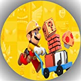 Fondant Tortenaufleger Tortenbild Geburtstag Super Mario P5
