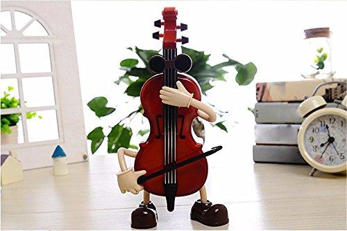 tagsgeschenk Musical Mechanism Klassische Technologie Dekoration wird Bass Hand Gitarrist Musik Box Männer und Frauen Geschenke 1 Pc,18,6 * 3,1 * 8Cm (Wirren, Geburtstag Dekorationen)