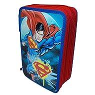 CASE SCHOOL SUPERMAN MARVEL 3 ZIP / CHARNIÈRES PIECES 46 CM porteur. 20X13X6 - 162166
