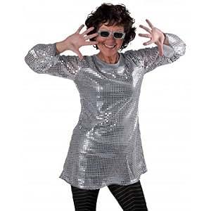Tunique disco femme sequins - Argent à l'unité