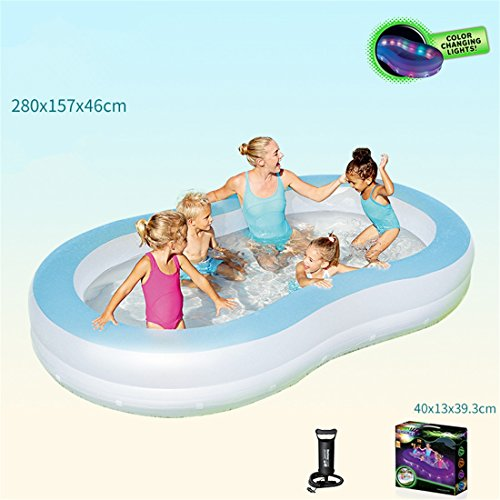CHENHUAVerdickte Umweltfreundliche PVC-Erwachsene Kinder, die Schwimmen faltendes aufblasbares Familienpool-Ballpool 280 * 157 * 46cm für Mehr als 3 Jahre Alt Schwimmen