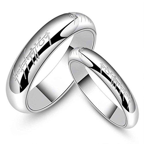 Lufa 6 millimetri donne mens lettere stampate anello d'acciaio di titanio passando gioielli unisex