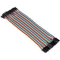CAOLATOR 40x 20cm female-female jumper wire Kabel 2.54mm 0.1 in Dupont Kabel F/F für Arduino Platine