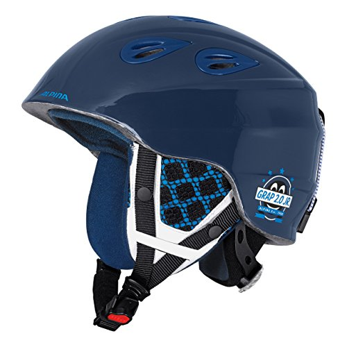 ALPINA Kinder Grap 2.0 Jr Skihelm, Blue/Navy, 54-57 cm