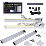 2-Achsen-Digitalanzeige, DRO-Anzeige mit Präzisionslinearskala , 5 μm, 50 ~ 1000 mm , für Fräsdrehmaschine EDM Maschine, 300mm+1000mm, 1