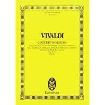 L'Estro Armonico: Concerto grosso d-Moll. op. 3/11. RV 565 / PV 250. 2 Violinen, Violoncello obligato, Streicher und Basso continuo. Studienpartitur. (Eulenburg Studienpartituren)