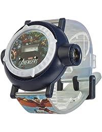Los Vengadores MAR9 - Reloj LCD Multiproyector para niño, multicolor