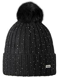 69bed74b0215 Barts-Bonnet noir pompon imitation fourrure Modèle splendor junior et femme