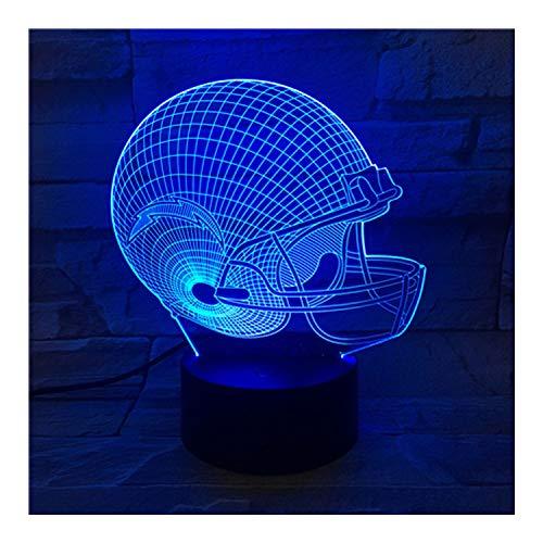 San Diego Chargers LED-Illusionslicht, optischer 3D-Nachttisch Nachtlicht Beleuchtung Kinderlampe Schlaf Beleuchtung 7 Farbe Touch-Taste dekorative Tischlampe