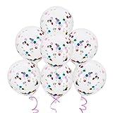 Lictin 15pcs Konfetti Luftballons gefüllte Transparente Ballons für Halloween, Weihnachten, Geburtstagsfeiern, Party, Hochzeitsfeiern