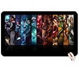 People league of legends morgana evelynn irelia katarina the sinister blade sivir nidalee lux caitlyn sona big mouse pad computer mousepad Dimensions: 23.6 x 13.8 x 0.2