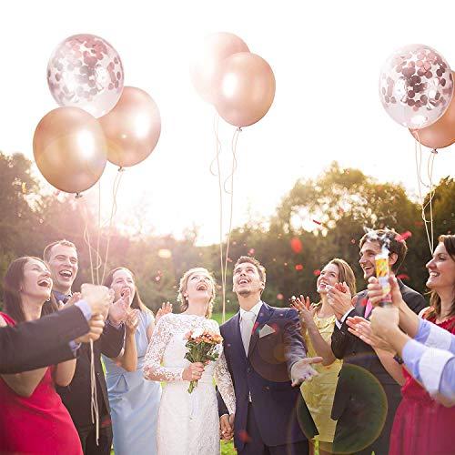 Globos de confeti de oro rosa Globo de fiesta 30.5 CM para boda, cumpleaños, baby shower, graduación, decoraciones de fiesta de ceremonia (30 piezas)
