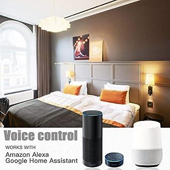 Magic Hue Led Mini Wifi Rgbw Gegenwert 40w Lampe, Dimmbar Energiesparlampen Mit Amazon Echo Alexa, Google Home, Ifttt, Sunrise 16 Mio Farben Leuchtmittel Sonnenaufgang E27 Für Android Und Ios 1