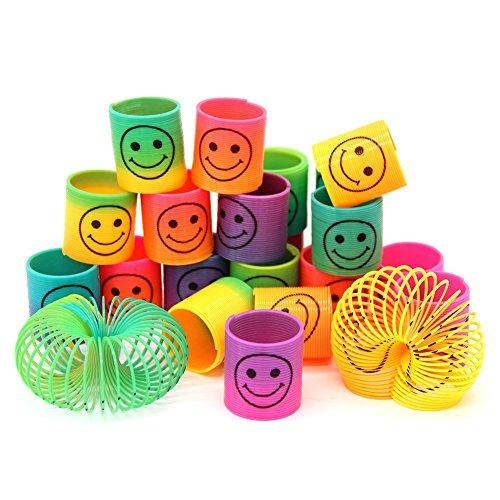 SWNKDG 24pcs Regenbogenspirale Frühling Magie Regenbogen für Puzzle Lernspielzeug, Mitgebsel, Kindergeburtstag, Spielzeug, Party