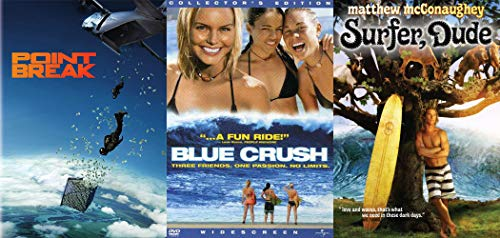 Surfs Up Brah' Love + Waves Is What We Need In These Dark Days: Surfer, Dude & Point Break (2015) & Blue Crush 3-DVD Double Feature Bundle