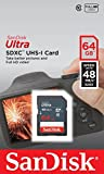 Sandisk 64GB Ultra SDXC Memory Card For Canon EOS 700D Camera