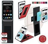 reboon Hülle für Elephone P8000 Tasche Cover Case Bumper | Rot Leder | Testsieger