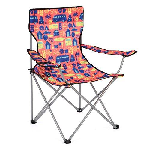 Board Masters Volkswagen Festival-Camping-Stuhl für Erwachsene - VW Bulli T1 Samba Bus - Leichter und Strapazierfähiger für Draußen