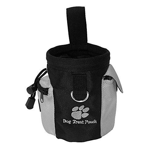 owikar Pet Hunde Leckerli Futter Tasche, tragbar Puppy Dog Training Food Treat Taille Tasche mit Poop Bag Spender Hände frei Pet Dog Snack Belohnung Training Taschen, Agility gehorcht Köder Taille Tasche
