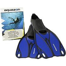 AQUAZON Pinne, Diver Pinne, Pinne Butterfly dimensioni bambini–Adulto, blau, 42-43