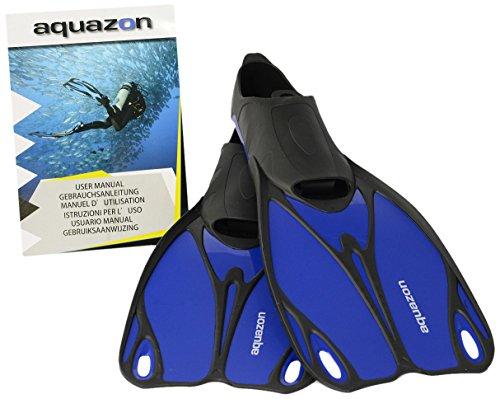Aquazon Kinder Flossen, Taucherflossen, Schwimmflossen Butterfly, blau, 38-39