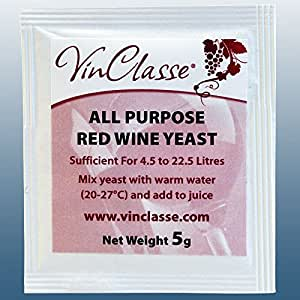 Wine Making - VinClasse® All Purpose Red Wine Yeast - 5 Gram Sachet