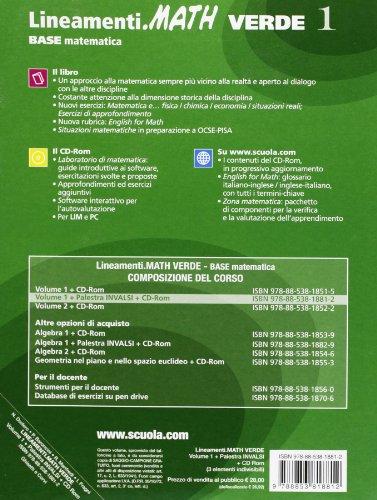 Lineamenti.math verde. Prove INVALSI. Per le Scuole superiori. Con CD-ROM. Con espansione online: 1