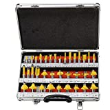 #10: Toolscentre TC-35A Premium 35 Pieces Router Bit Set 8mm Shank with A Professional Suit Case