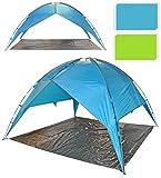 Redcliffs Outdoor Beach Garden Party Festival Camping Gazebo Open Tent Canopy With Ground Sheet (Green)