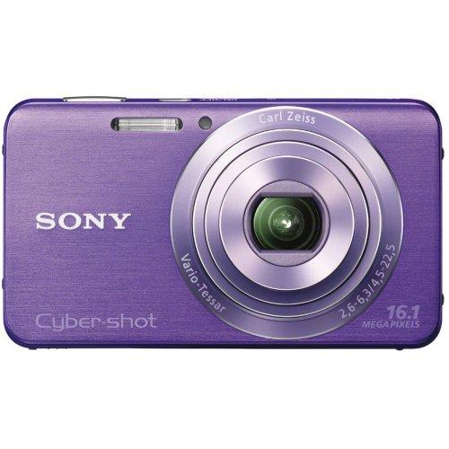 Sony DSC-W630V Cyber-shot Digital Kamera (16 Megapixel, 5x opt. Zoom, 6,7 cm (2,7 Zoll) LCD-Display, bildstabilisiert) Schwenkpanorama Aufnahme und iAUTO lila Sony Ccd-serie