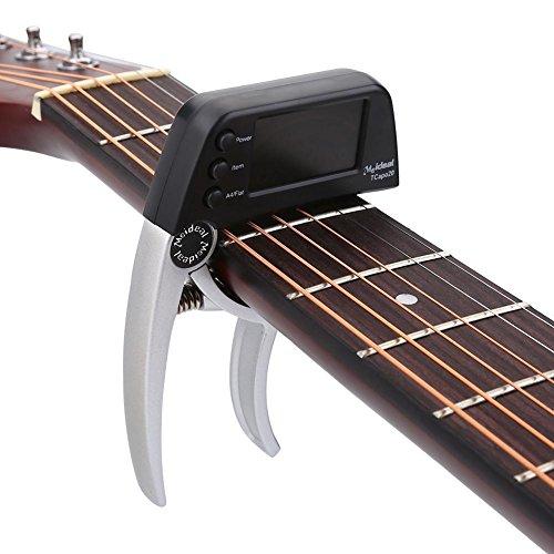Dilwe E-Gitarre Kapo, Einhand Acoustic Gitarre Kapodaster Frühling Metall Clamp(Silber)
