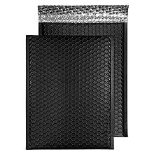 Blake Purely Packaging C4 324 x 230 mm Matt Metallic Padded Bubble Envelopes Peel & Seal (MTB324) Jet Black - Pack of 100