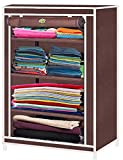 #5: Litleo CVR32 Multipurpose Micro Fiber Collapsible Wardrobe - Brown, Standard