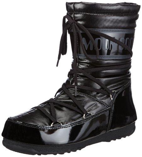 Moon Boot Tecnica M-BOOT W.E.SOFT MID NERO, Damen Warm gefütterte Schneestiefel, Schwarz (Black 001), 35 EU