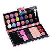 Paleta de maquillaje de sombra de ojos de 26 colores, sombra de ojos, sombra de ojos, colorete, brillo de labios en polvo rosa Talla:AS SHOW