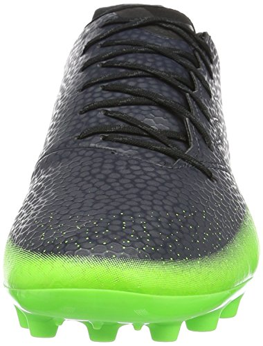 adidas Messi 16.3 Ag, Scarpe da Calcio Uomo Nero (Dark Grey/silver Metallic/solar Green)